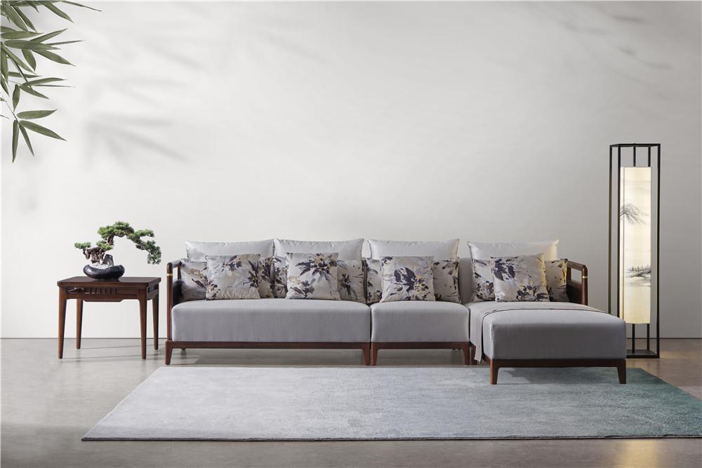 森盛家具新中式全实木庐境客厅家具客厅沙发