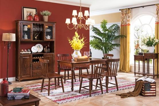 森盛美式家具舒美餐厅系列