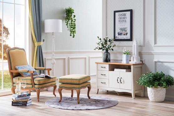 森盛法式家具罗曼+系列XY9001休闲椅