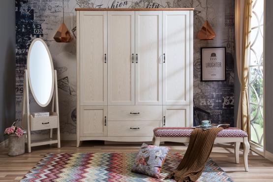 森盛法式家具罗曼+系列D9001衣柜