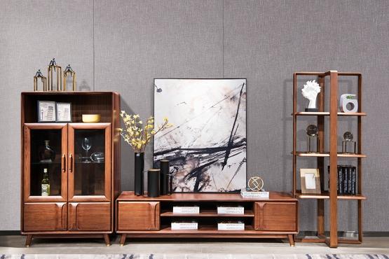 森盛家具全实木电视柜组合