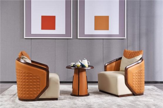 客厅森盛极简主义意式家具客厅沙发