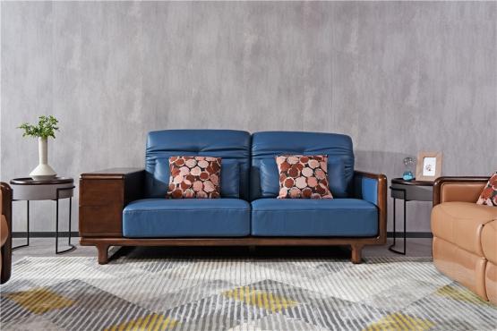 森盛极简主义意式家具客厅沙发