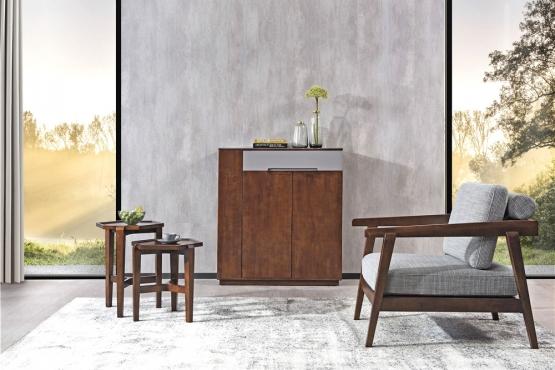天津森盛极简意式风格木图系列客厅家具