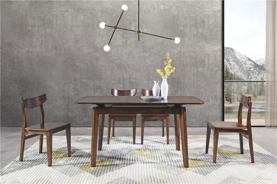 森盛极简意式风格木图系列餐厅家具