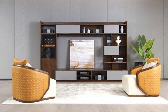 天津森盛家具极简主义意式沙发