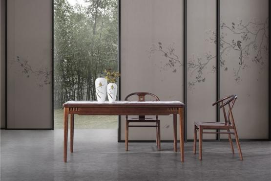 天津森盛家具新中式庐境系列餐厅