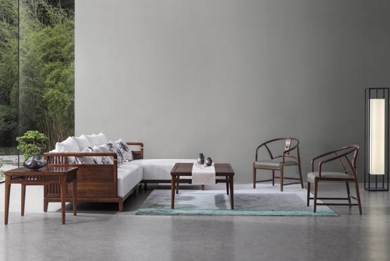 森盛家具新中式庐境客厅家具客厅沙发