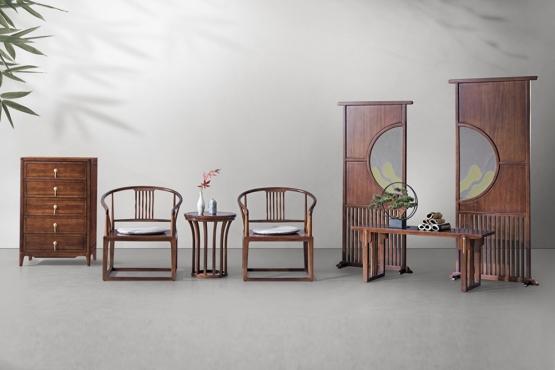 森盛家具新中式全实木庐境客厅家具太师椅屏风