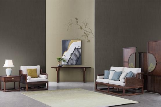 森盛家具新中式全实木庐境客厅家具修休闲椅系列