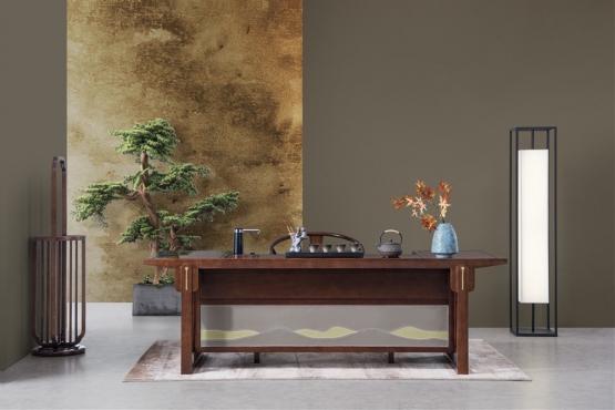天津森盛家具新中式全实木庐境书房书桌椅桌案