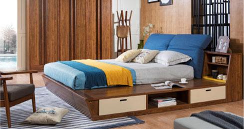 森盛现代家具北欧风格锐璞系列卧房