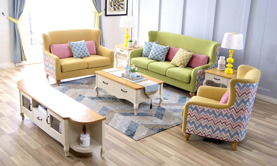 森盛现代家具法式风格罗曼+客厅系列