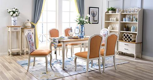 森盛现代家具法式风格罗曼+餐厅系列