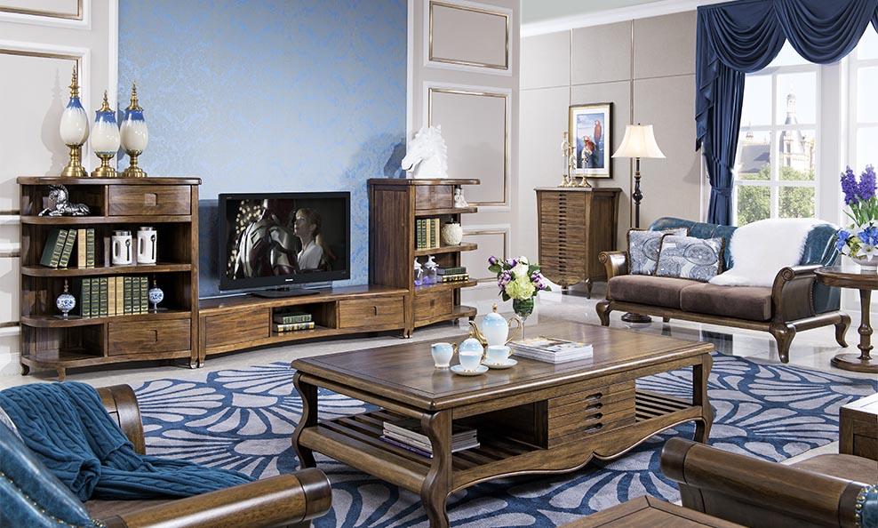 森盛实木家具欧卡斯客厅系列