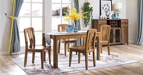 森盛现代简约家具美洲胡桃餐厅家具