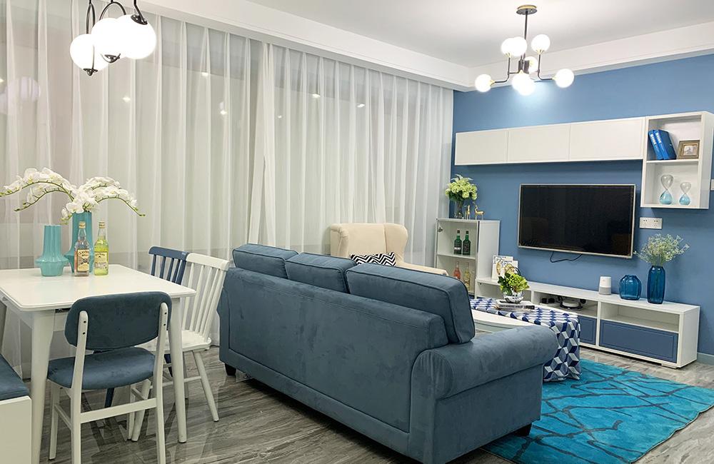 森盛定制家-地中海风格55平米两房两厅全屋定制